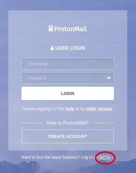 protonmail login