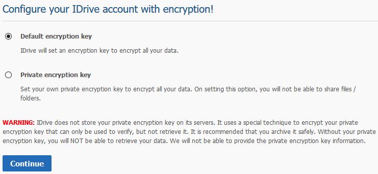 idrive encryption