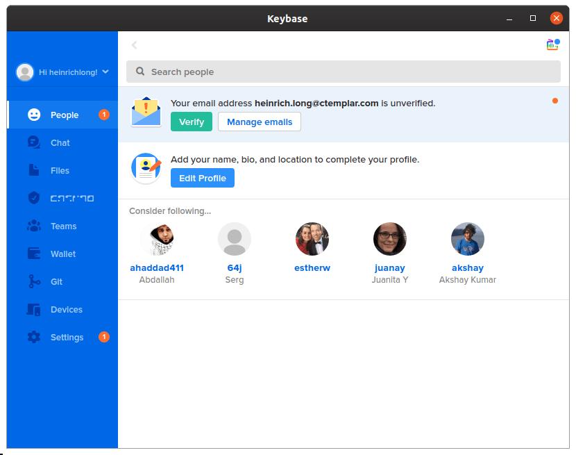 keybase app