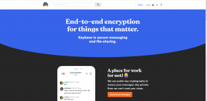 keybase home page
