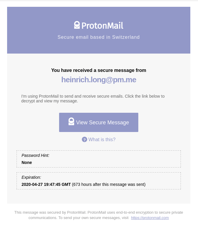 protonmail secure email test