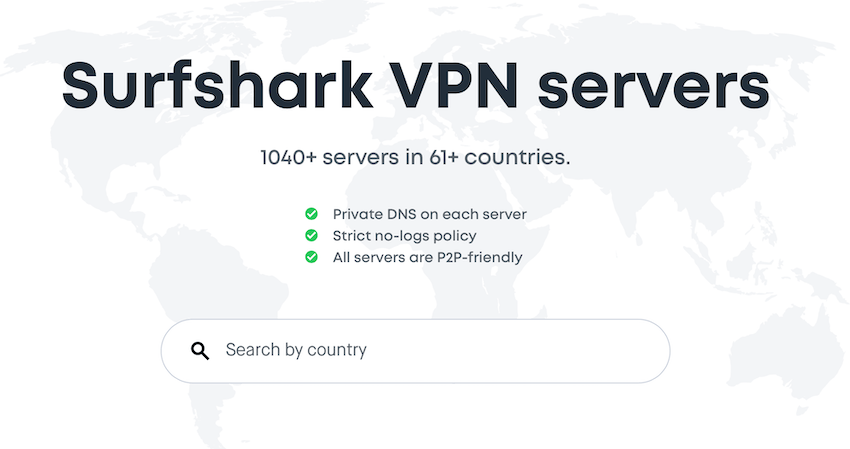 surfshark servers