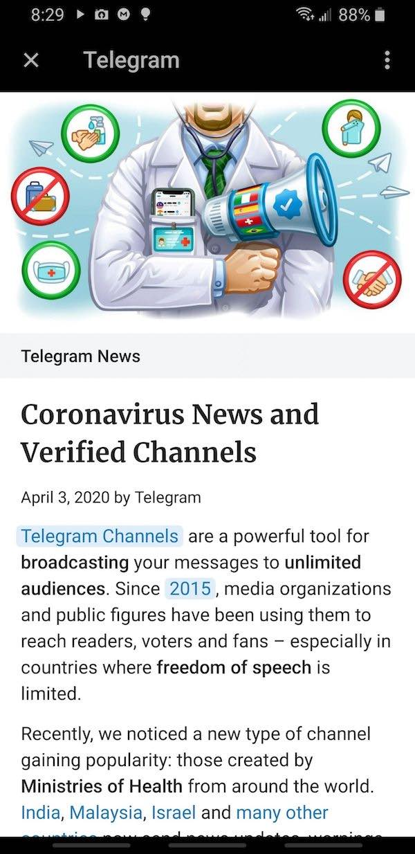 telegram app android instant view