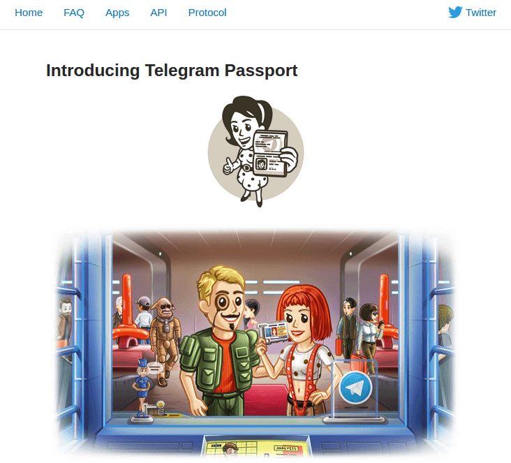 telegram passport app