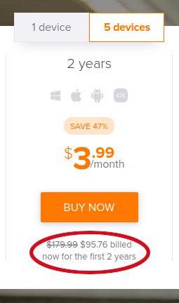 secureline vpn 2-year pricing