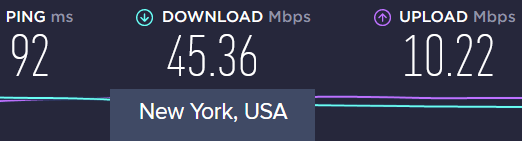 secureline vpn speeds
