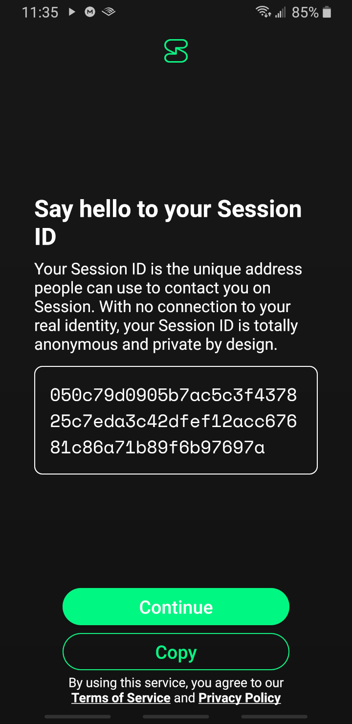 session android app