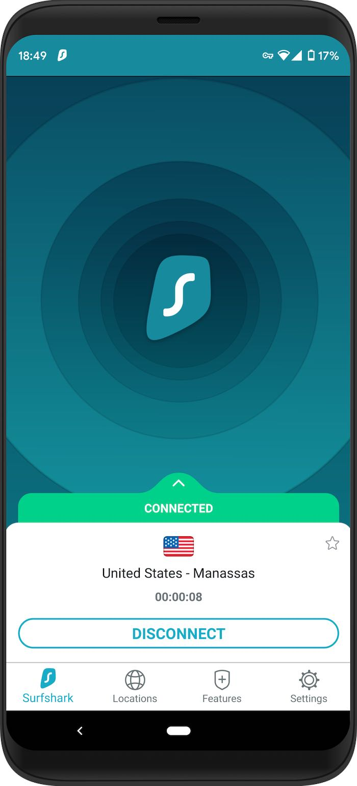 surfshark vpn android app