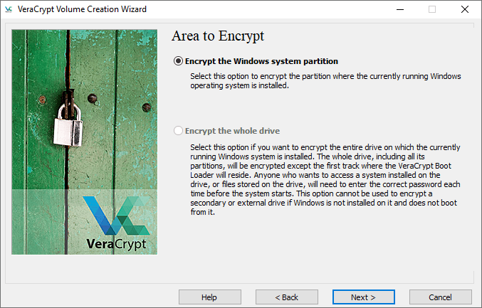 veracrypt encrypt system partition image 2