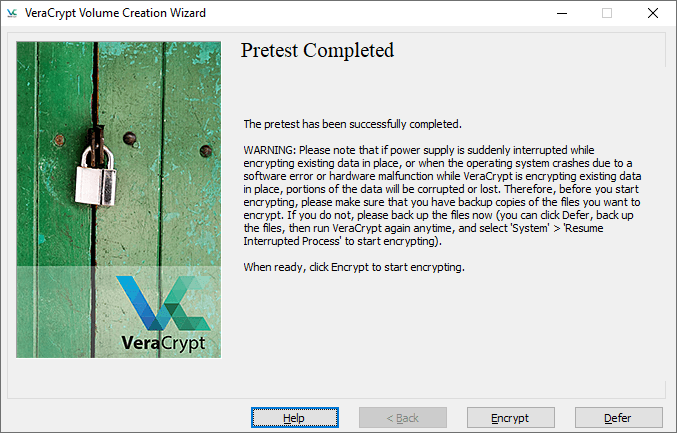 veracrypt encrypt system partition 8