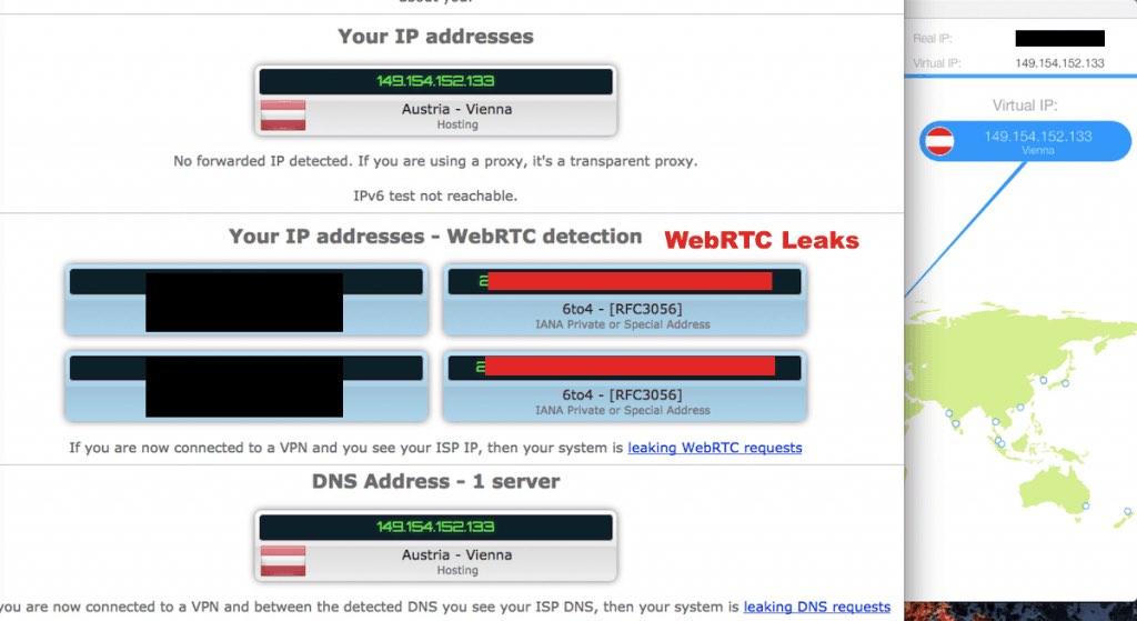 webrtc leak with vpn