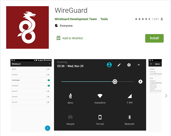 wireguard client