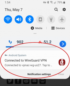 wireguard running on vpn.ac