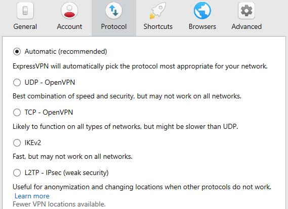 Express VPN protocols review