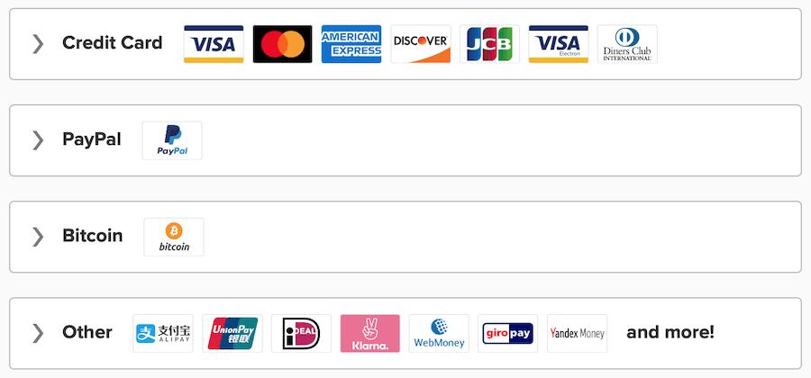 ExpressVPN discount payment options