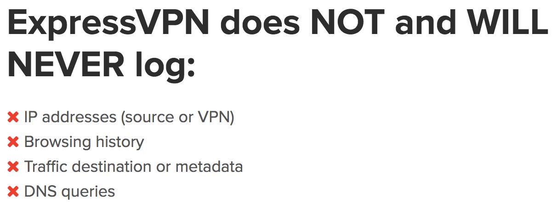 ExpressVPN no logs review