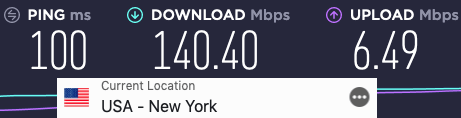 ExpressVPN server speed test US