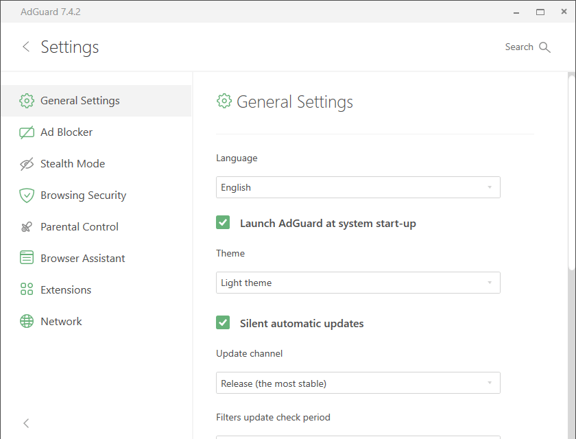 adguard settings
