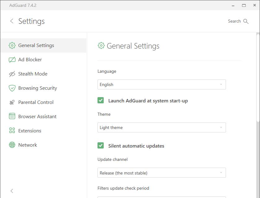 adguard settings