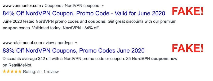 real nordvpn coupons vs fake