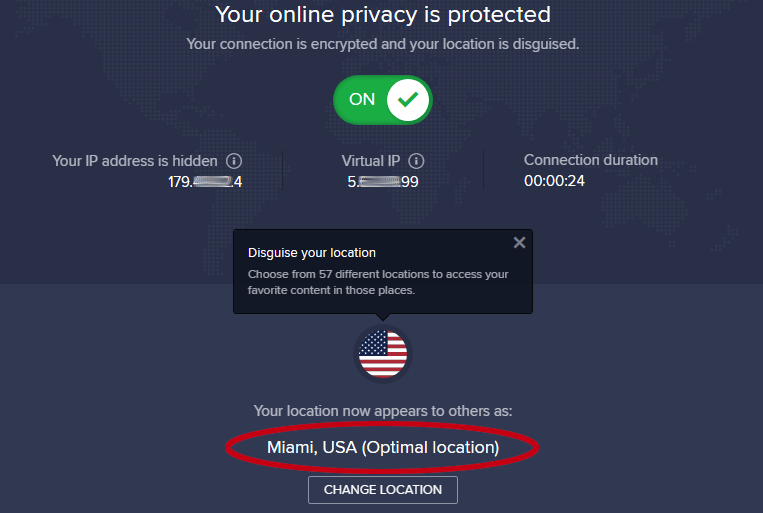 secureline vpn location