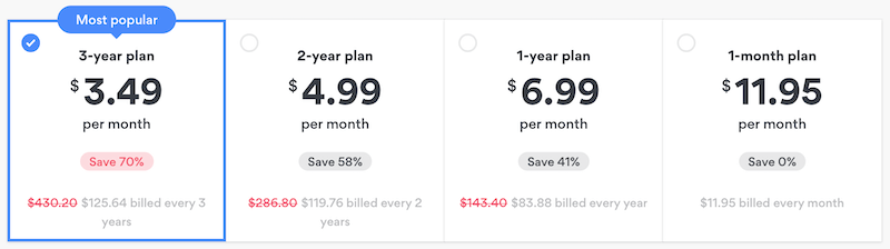 NordVPN more expensive than Surfshark
