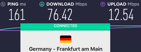Surfshark VPN Europe speeds