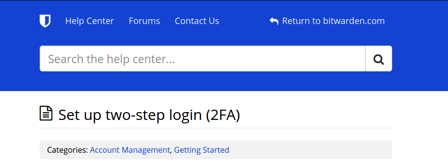 how to set up 2fa password manager