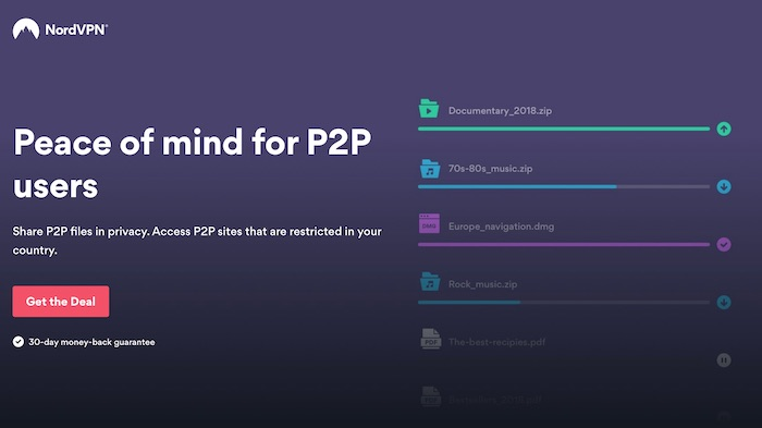 vpn for p2p torrents