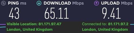 ipvanish speeds in uk