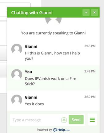 ipvanish support