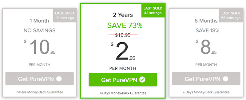 purevpn vs pia prices