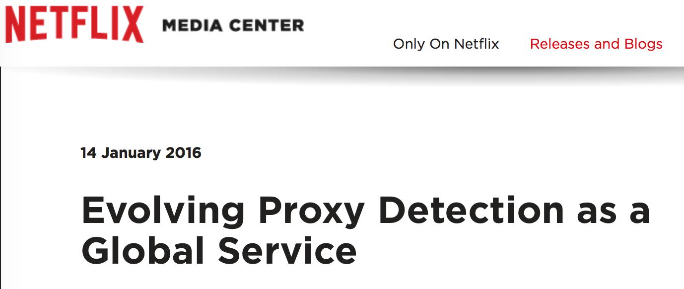why netflix blocks vpn services