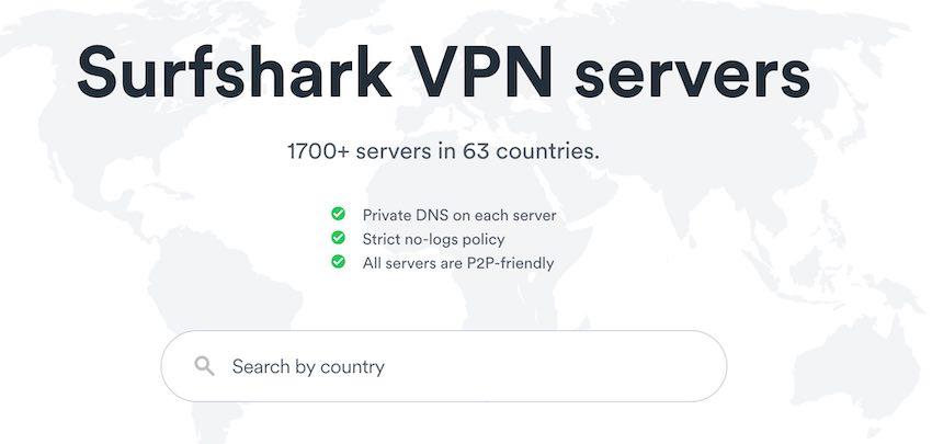 Surfshark VPN Severs