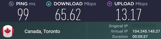 speed test for AVG VPN