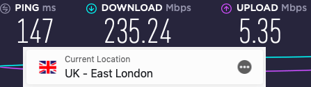 ExpressVPN UK speeds compared to Vypr VPN