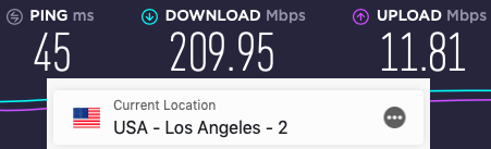 ExpressVPN speed test