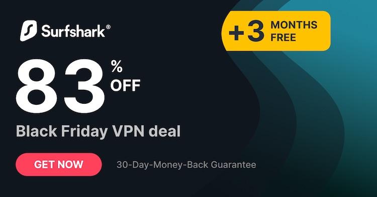 Surfshark Cyber Monday 2020 deal