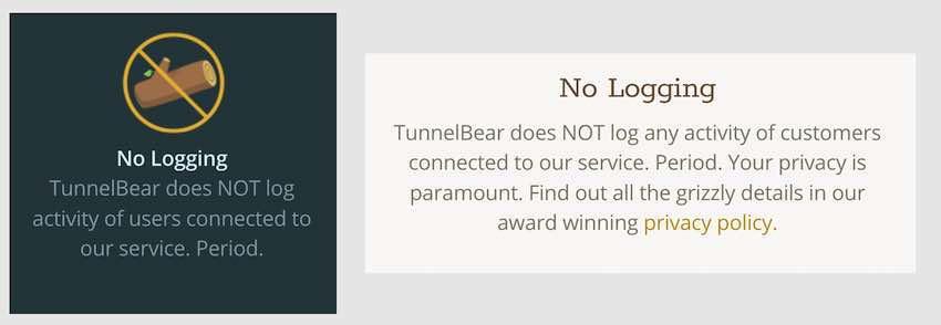 TunnelBear Logs