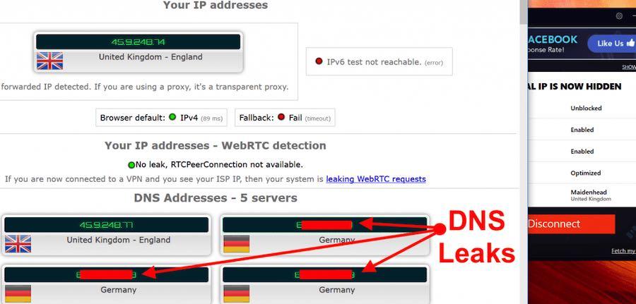 VPN that leaks