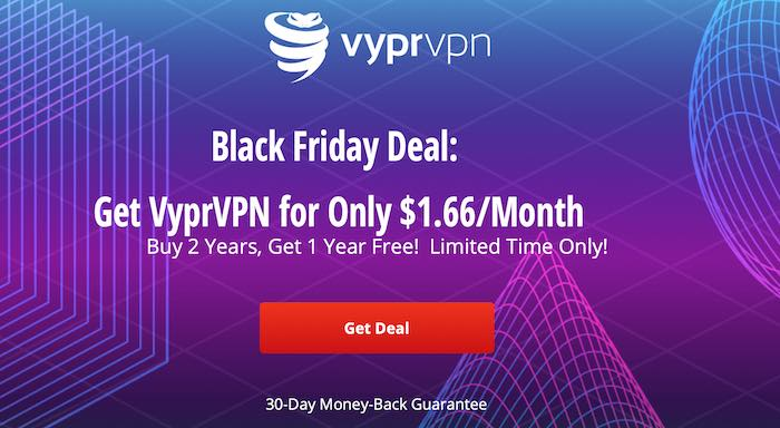VyprVPN discount for black friday and cyber monday