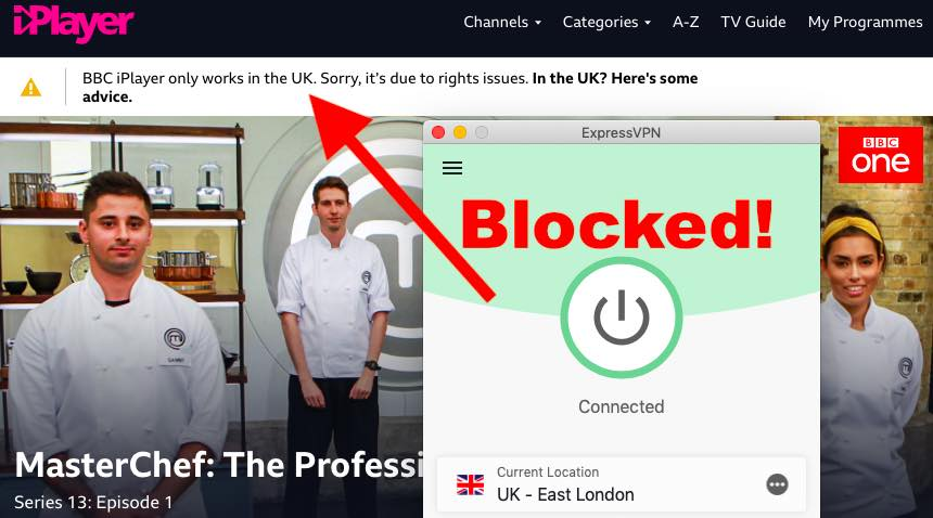 Express VPN with BBC iplayer