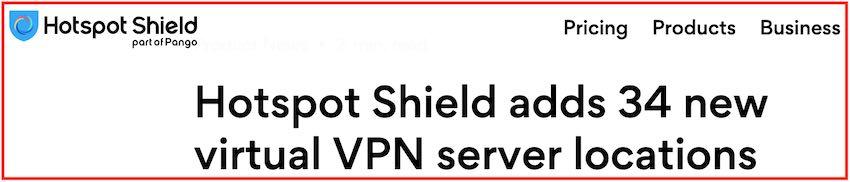 Hotspot Shield servers