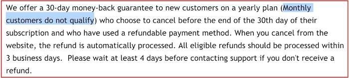 IPVanish refund policy