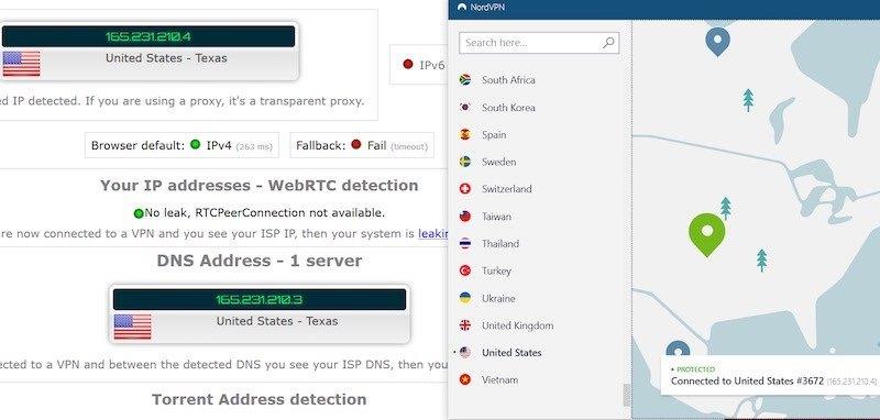 Nord VPN test