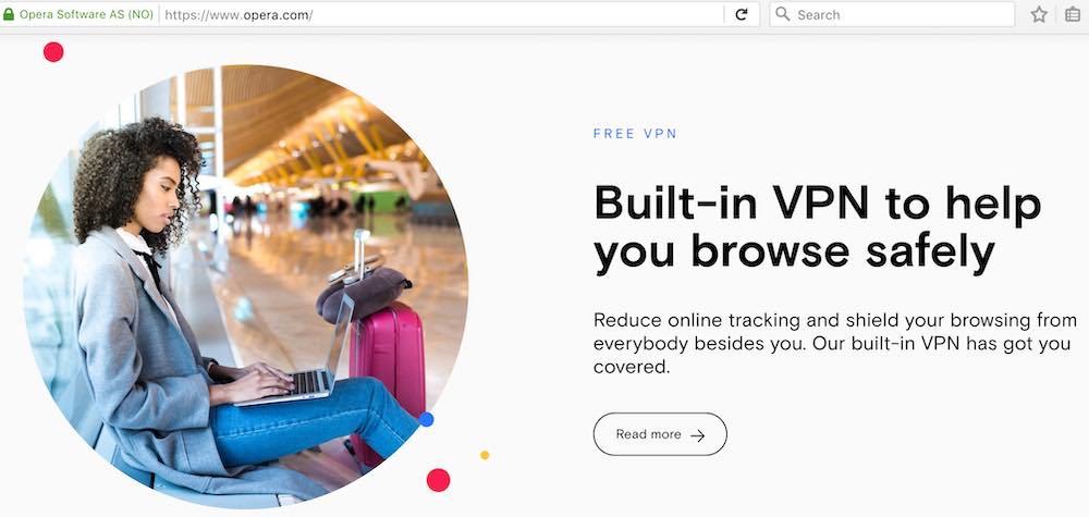 Opera VPN service