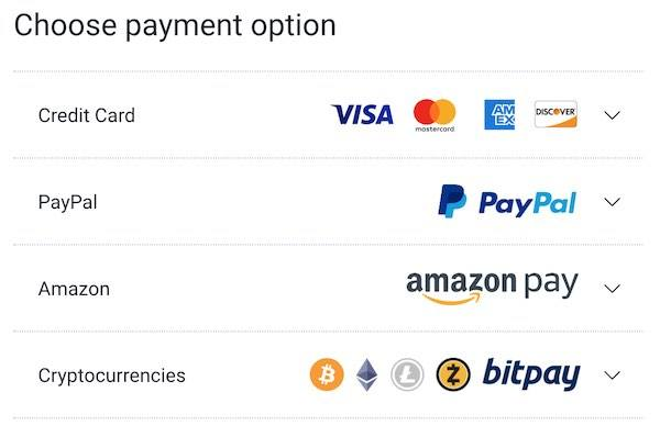Private Internet Access payment methods