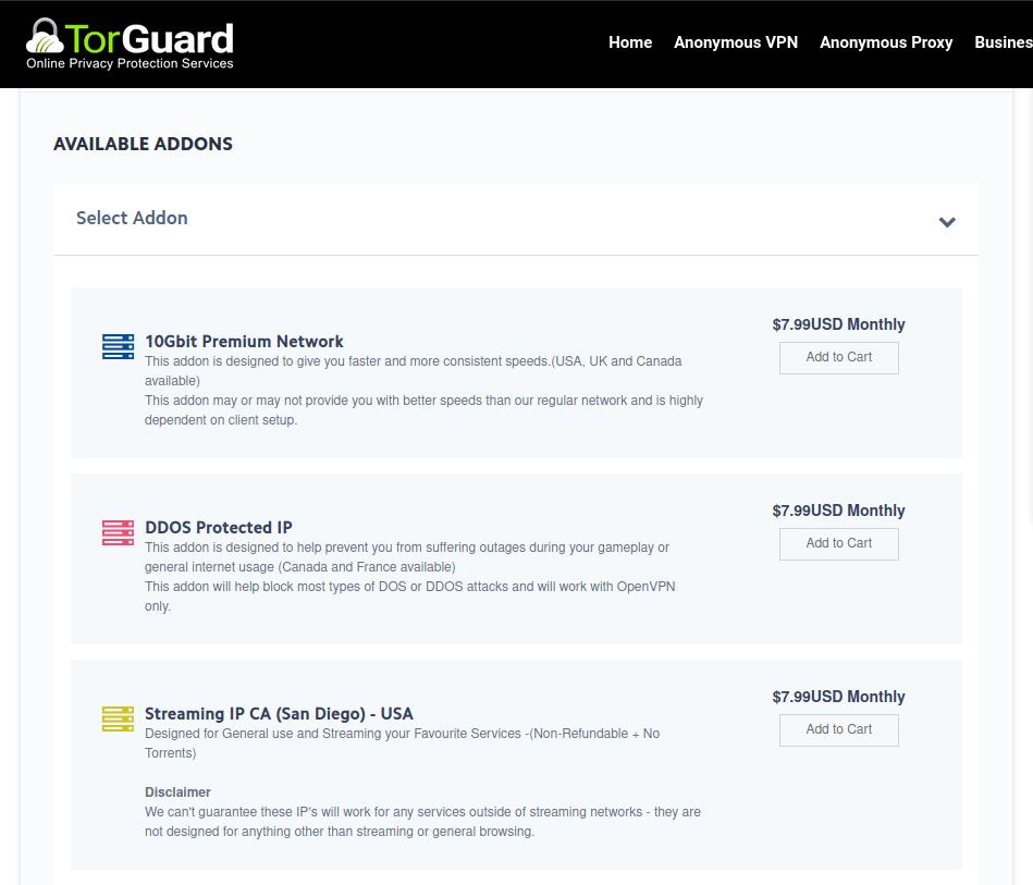 TorGuard VPN subscription