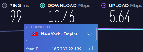 Windscribe US server speeds