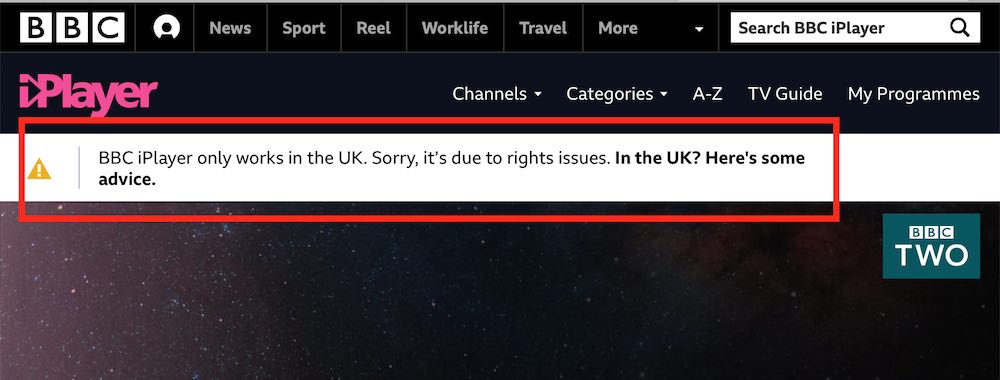 bbc iplayer not working use VPN